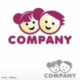 Boy and Girl. Logo Royalty Free Stock Image