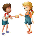 Boy and girl Stock Images
