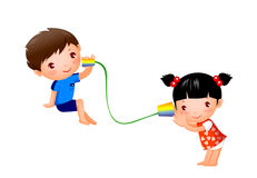 Boy and Girl. Are playing house Royalty Free Stock Image