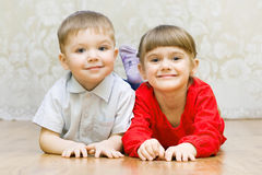 Boy and a girl Royalty Free Stock Photography