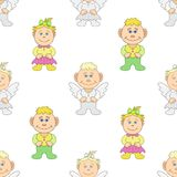 Boy and girl angels Stock Photography