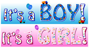 Boy girl announcement Stock Photos