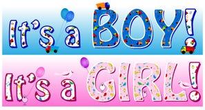 Boy girl announcement Stock Photos