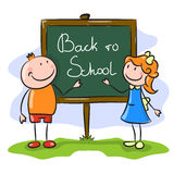 Boy and girl. Back to school Royalty Free Stock Photo