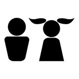 Boy and girl black color icon . Stock Images