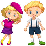 Boy and girl with blond hair Stock Photo