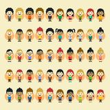 Boy and girl cartoon character set Stock Image