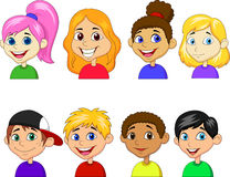 Boy and girl cartoon collection set Stock Image