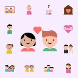 boy, girl cartoon icon. family icons universal set for web and mobile stock illustration