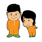 Boy and girl cartoon vector Royalty Free Stock Photography
