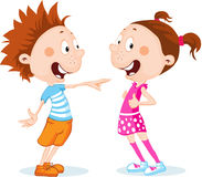 Boy and girl cartoon - vector illustration Royalty Free Stock Image