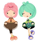 Boy and girl character Stock Images