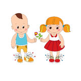 Boy and girl character Stock Photos
