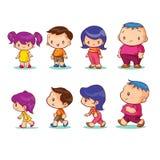 Boy girl character. Boy and girl character standing walking Royalty Free Stock Photo