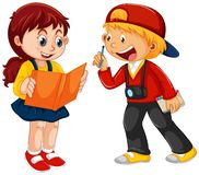Boy and girl children character. Illustration stock illustration
