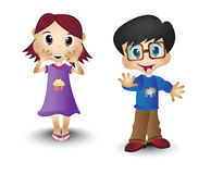 Boy And Girl, Children, kids Royalty Free Stock Photography