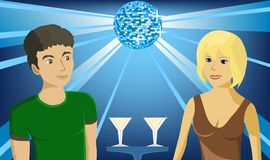 Boy and girl in the club Stock Photo