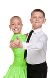 Boy and girl are dancing Stock Images