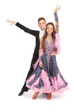 Boy and girl dancing ballet Royalty Free Stock Photo