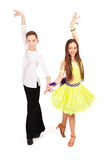 Boy and girl dancing ballet Stock Images