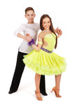Boy and girl dancing ballet Royalty Free Stock Image