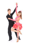 Boy and girl dancing ballroom dance Royalty Free Stock Photography