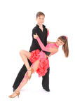 Boy and girl dancing ballroom dance Royalty Free Stock Images