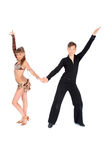 Boy and girl dancing ballroom dance Royalty Free Stock Photo