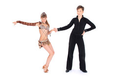 Boy and girl dancing ballroom dance Royalty Free Stock Image