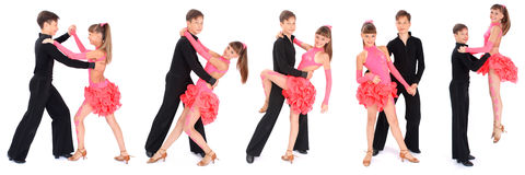 Boy and girl dancing ballroom dance Royalty Free Stock Photos