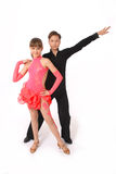 Boy and girl dancing ballroom dance Stock Photo