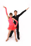 Boy and girl dancing ballroom dance Stock Photos