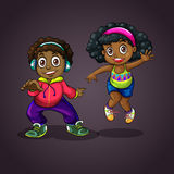 Boy and girl dancing Stock Images