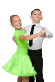 Boy and girl are dancing together Royalty Free Stock Images