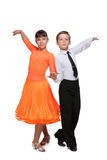 Boy and girl are dancing Stock Photos