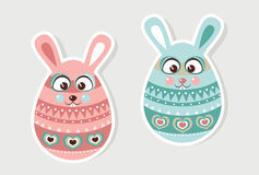 Boy and girl Easter Bunnies Stock Image