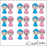 Boy-girl emotion Royalty Free Stock Photography