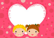 Boy and girl fall in love Royalty Free Stock Image