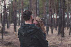 Boy and girl in forest Royalty Free Stock Images