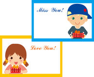 Boy and girl frame Stock Image