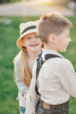 Boy and girl friends Royalty Free Stock Images