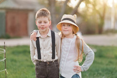 Boy and girl friends Stock Photos