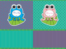 Boy Girl Frog Active Royalty Free Stock Photo