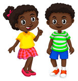 Boy and girl from Haiti Stock Photo