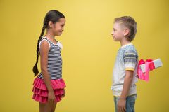 Boy and girl Stock Photos