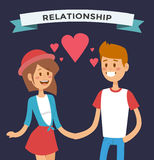 Boy and girl happy family couple in love Royalty Free Stock Photos