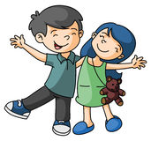 Boy and Girl Happy Stock Photography