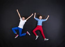 Boy and girl having fun together. Royalty Free Stock Photography