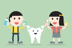 Boy and girl with healthy teeth Royalty Free Stock Photos