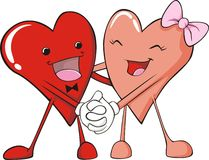 Boy and Girl Hearts Stock Images